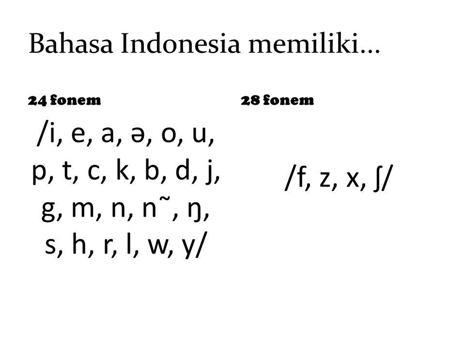 Bahasa Indonesia memiliki...