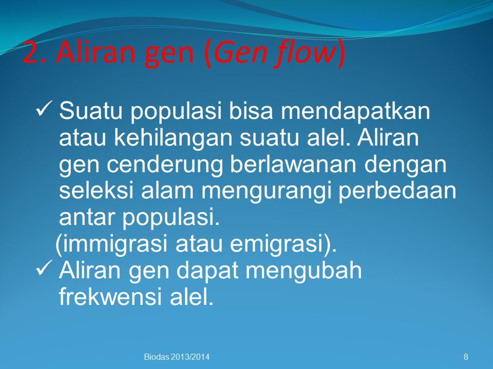 2. Aliran gen (Gen flow)