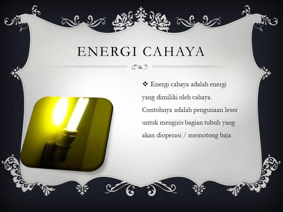 Energi cahaya