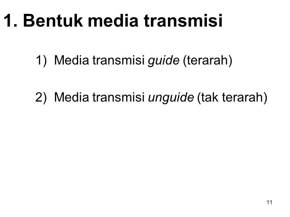 1. Bentuk media transmisi