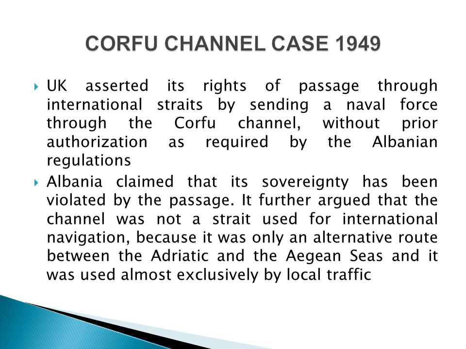 CORFU CHANNEL CASE 1949