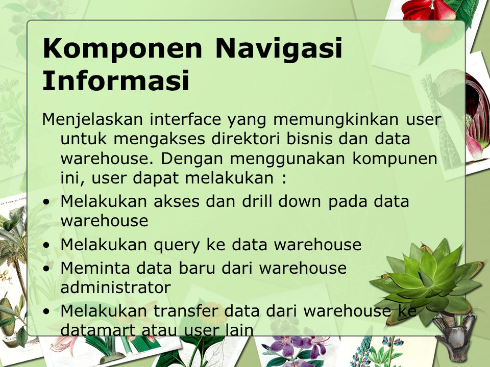 Komponen Navigasi Informasi