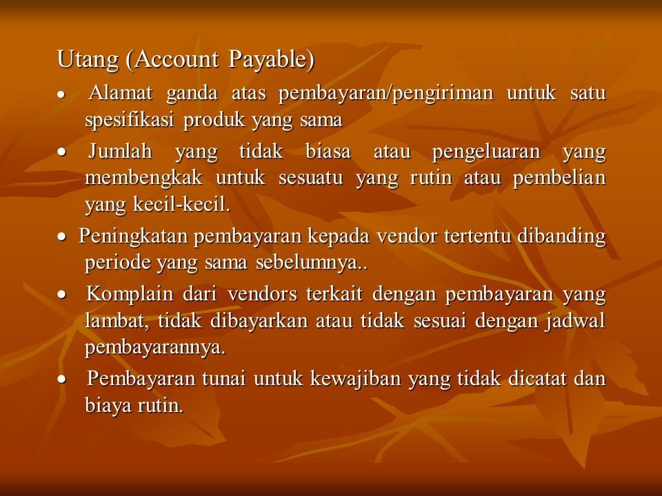 Utang (Account Payable)