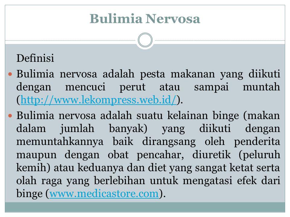 Bulimia Nervosa Definisi