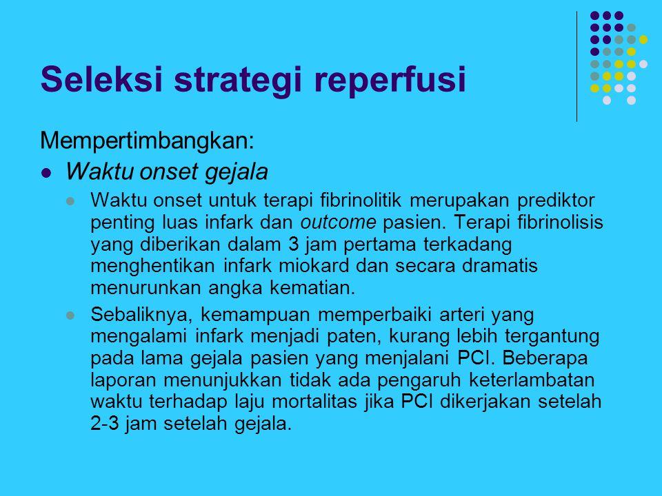 Seleksi strategi reperfusi