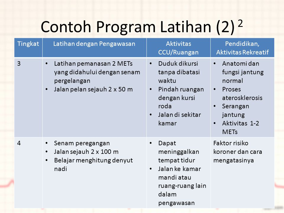 Contoh Program Latihan (2) 2