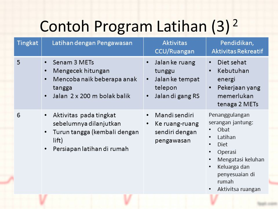 Contoh Program Latihan (3) 2