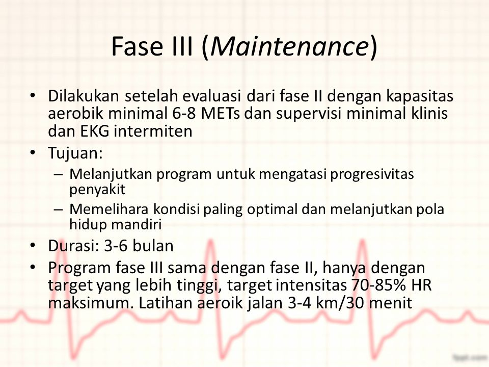 Fase III (Maintenance)