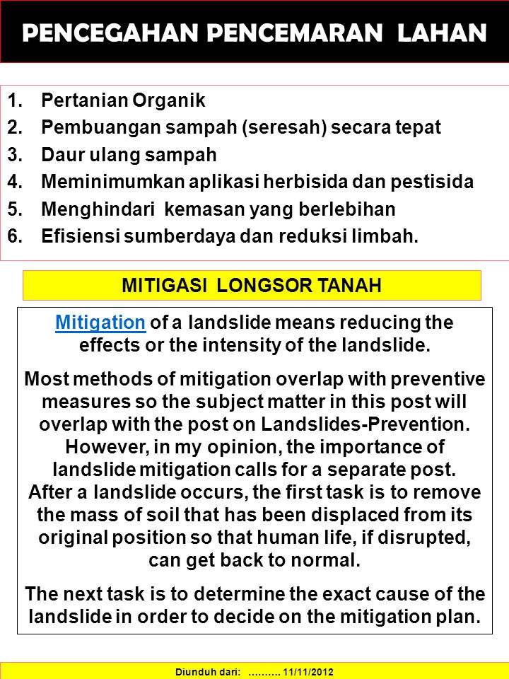 MITIGASI LONGSOR TANAH