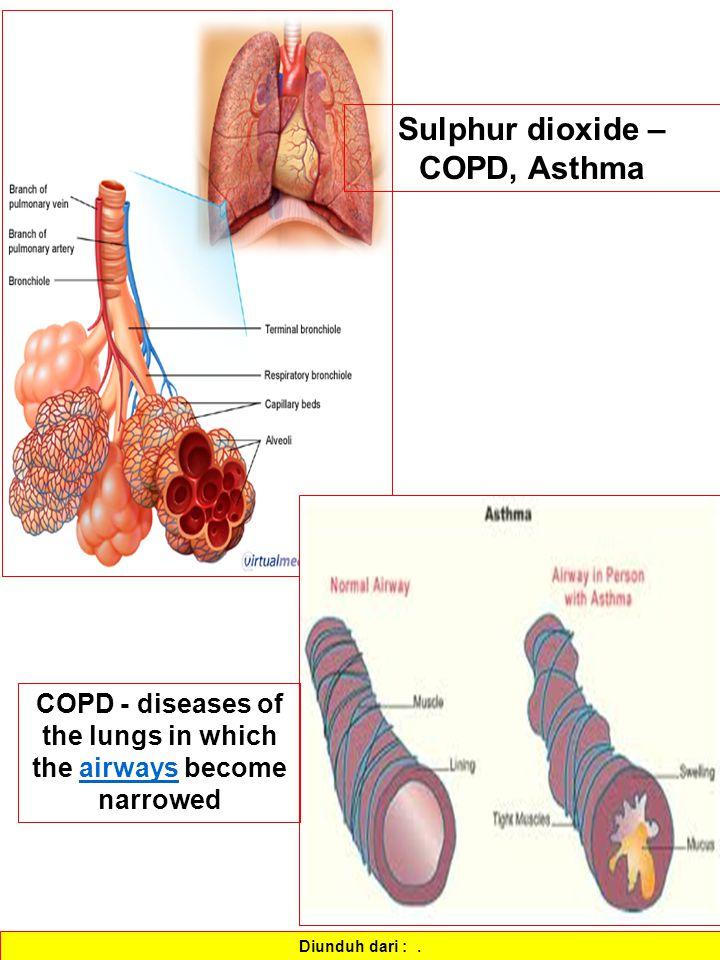 Sulphur dioxide – COPD, Asthma