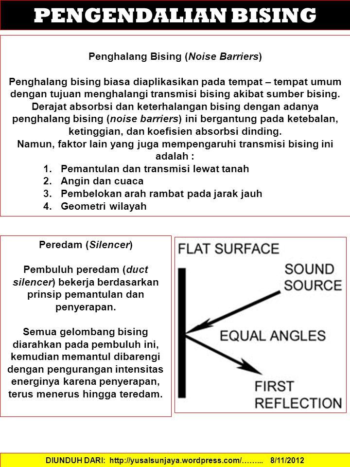 PENGENDALIAN BISING Penghalang Bising (Noise Barriers)