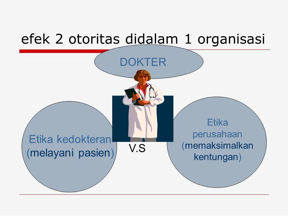 efek 2 otoritas didalam 1 organisasi