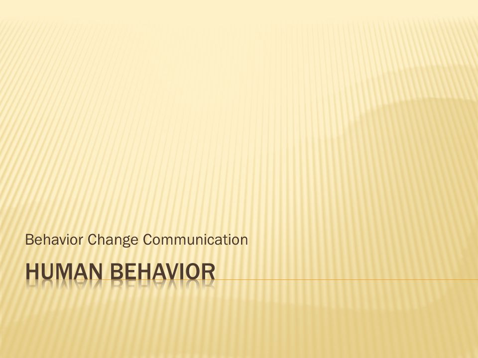 Behavior Change Communication