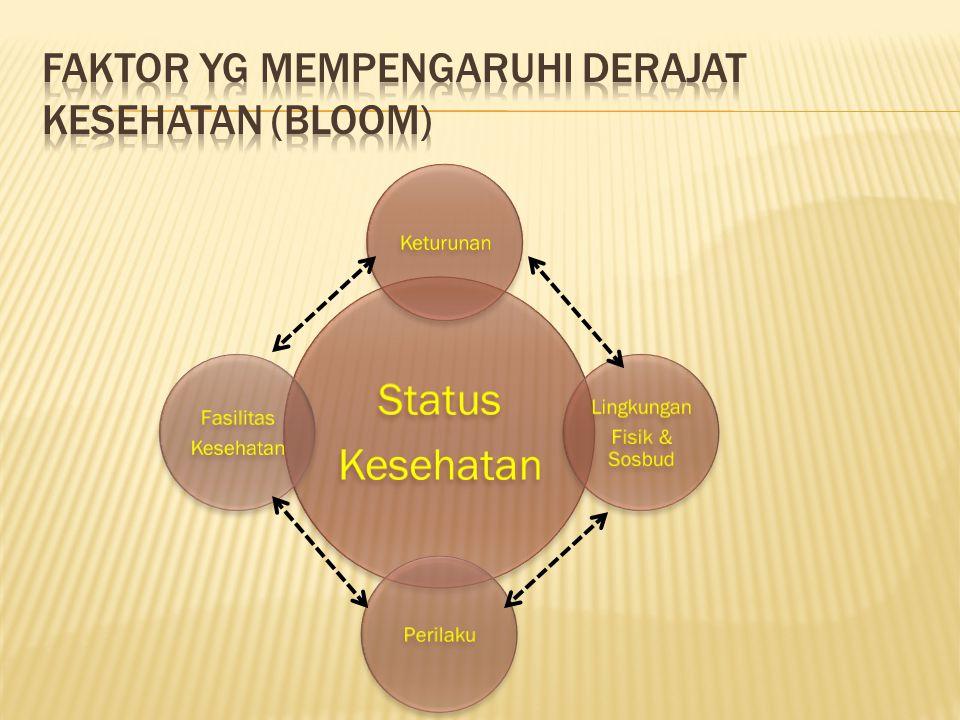 Faktor yg mempengaruhi derajat kesehatan (Bloom)