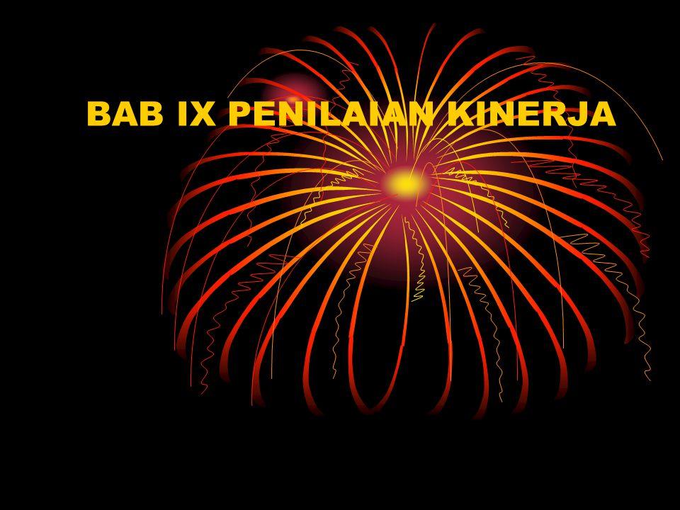 BAB IX PENILAIAN KINERJA
