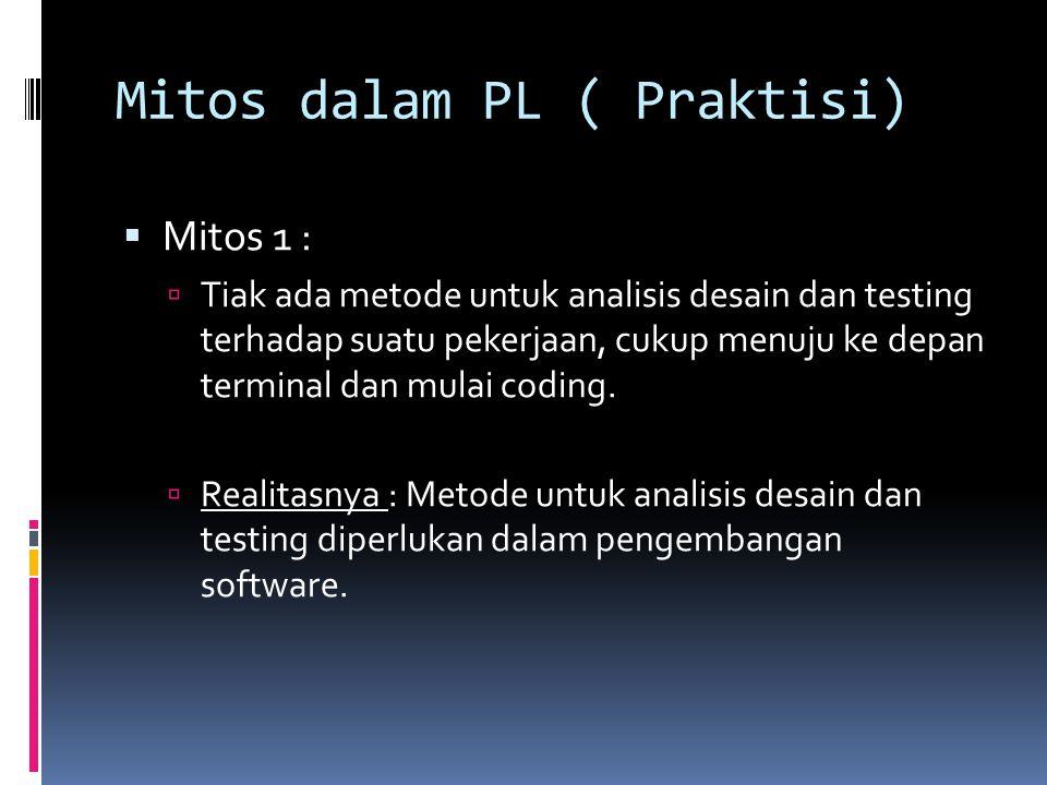 Mitos dalam PL ( Praktisi)