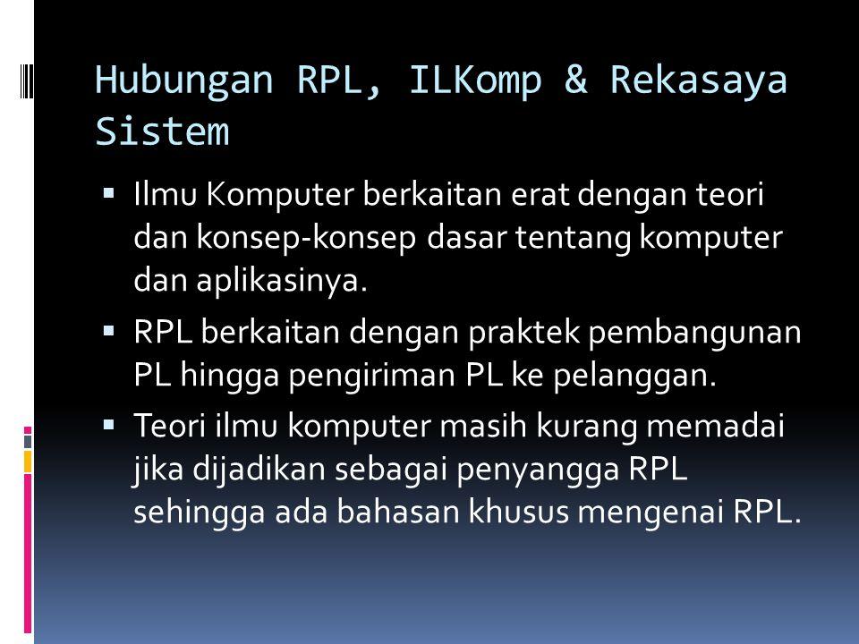 Hubungan RPL, ILKomp & Rekasaya Sistem