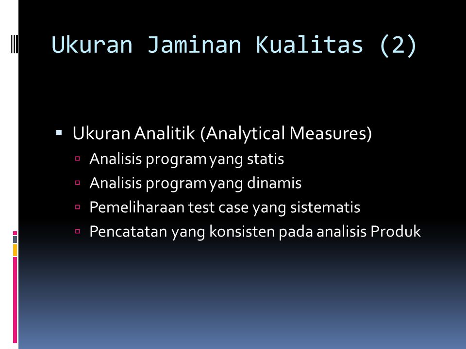 Ukuran Jaminan Kualitas (2)
