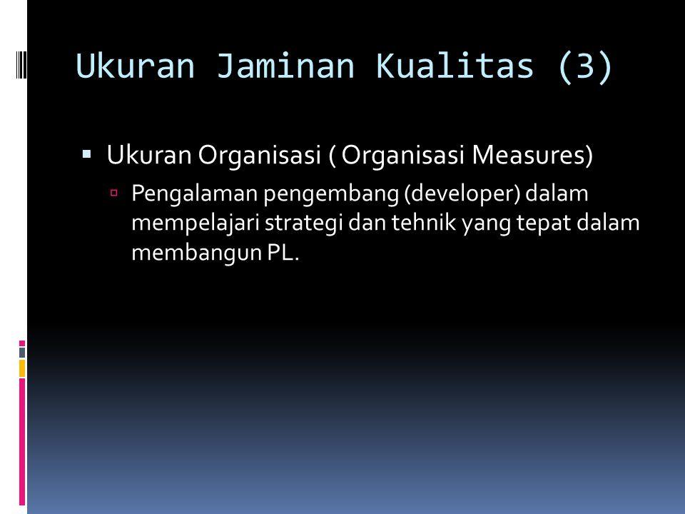 Ukuran Jaminan Kualitas (3)