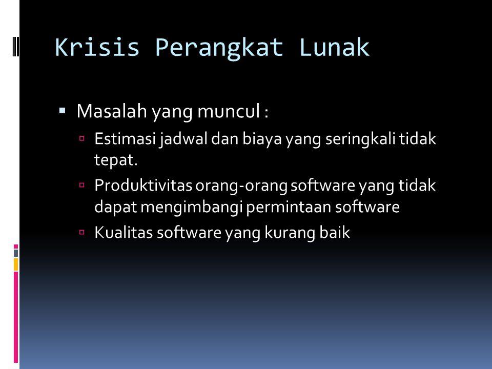 Krisis Perangkat Lunak