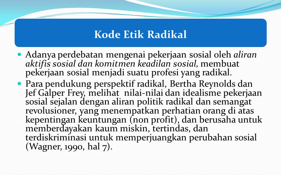 Kode Etik Radikal