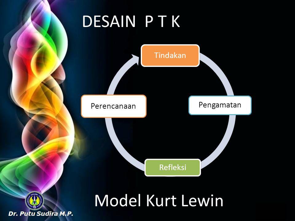 DESAIN P T K Tindakan Pengamatan Refleksi Perencanaan Model Kurt Lewin