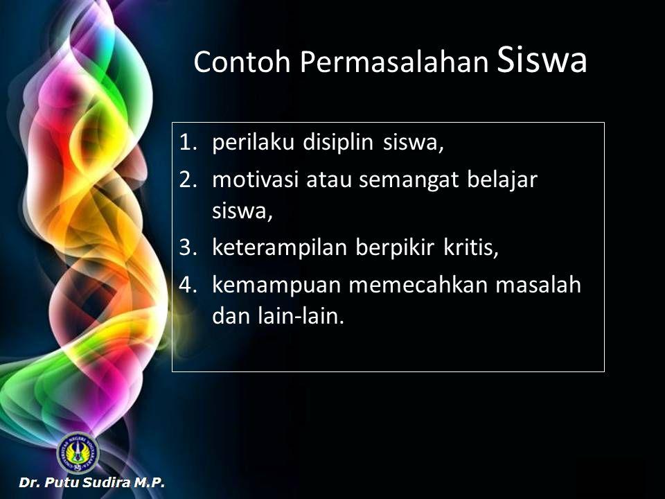 Contoh Permasalahan Siswa