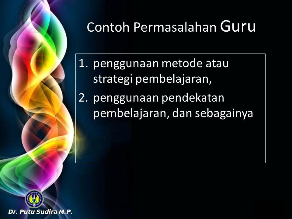 Contoh Permasalahan Guru
