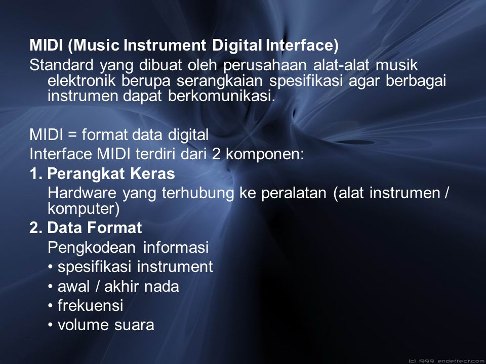 MIDI (Music Instrument Digital Interface)