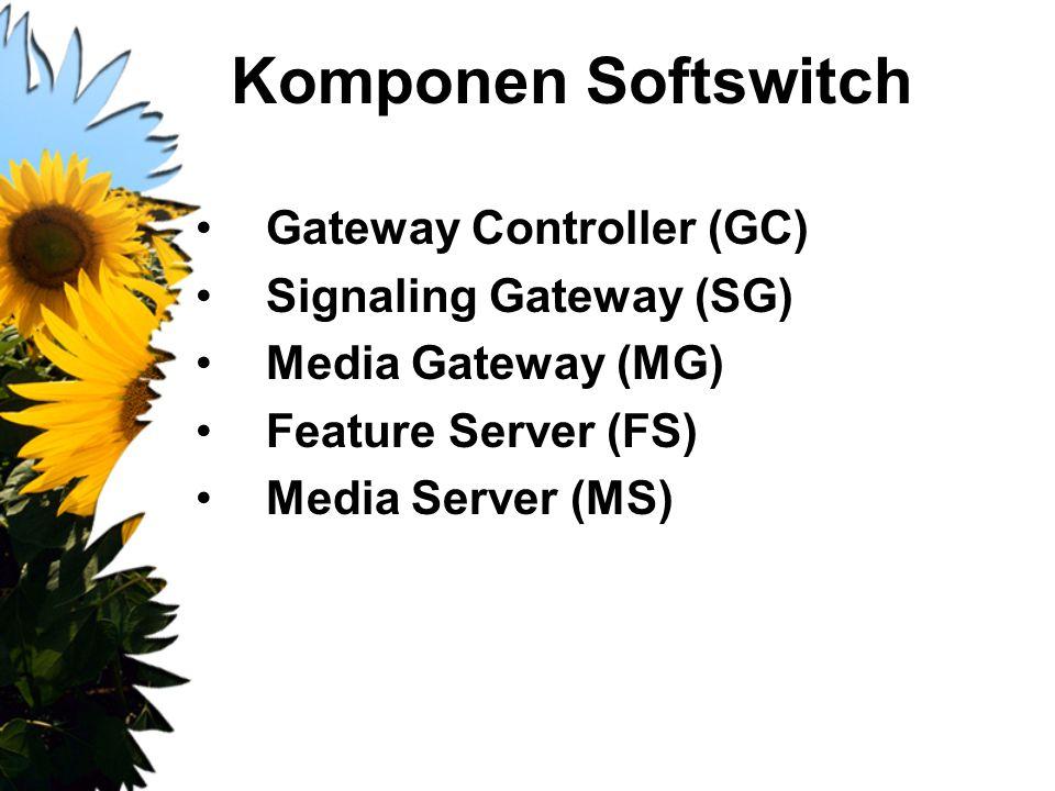 Komponen Softswitch Gateway Controller (GC) Signaling Gateway (SG)