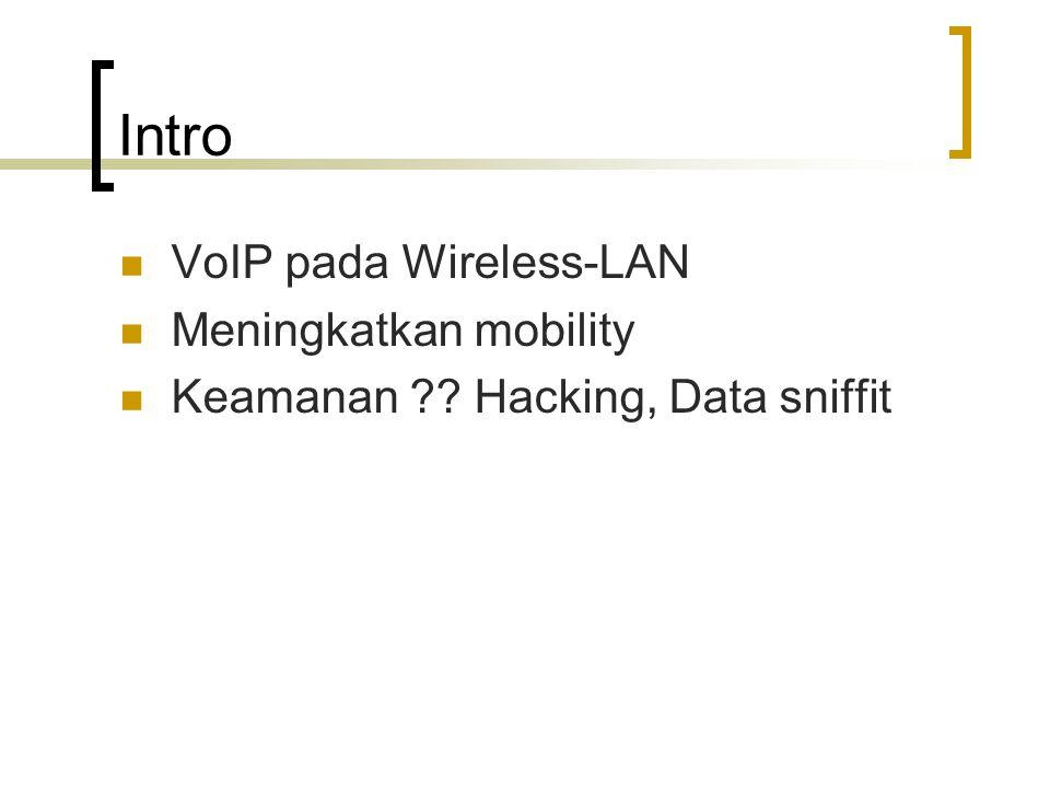 Intro VoIP pada Wireless-LAN Meningkatkan mobility