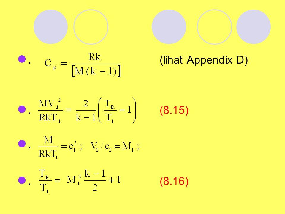 . (lihat Appendix D) . (8.15) . . (8.16)