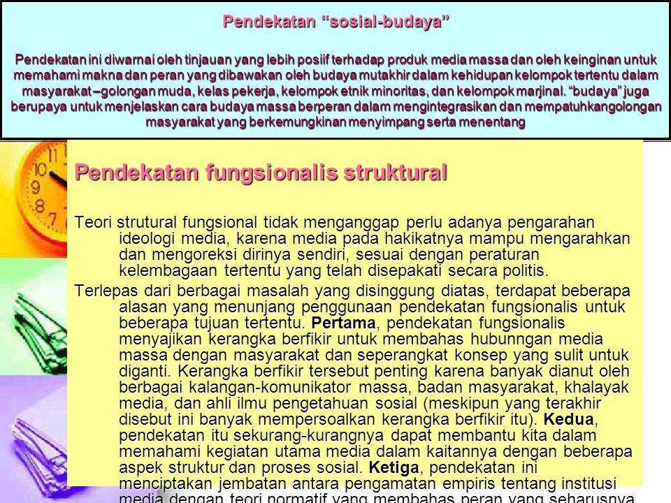 Pendekatan fungsionalis struktural