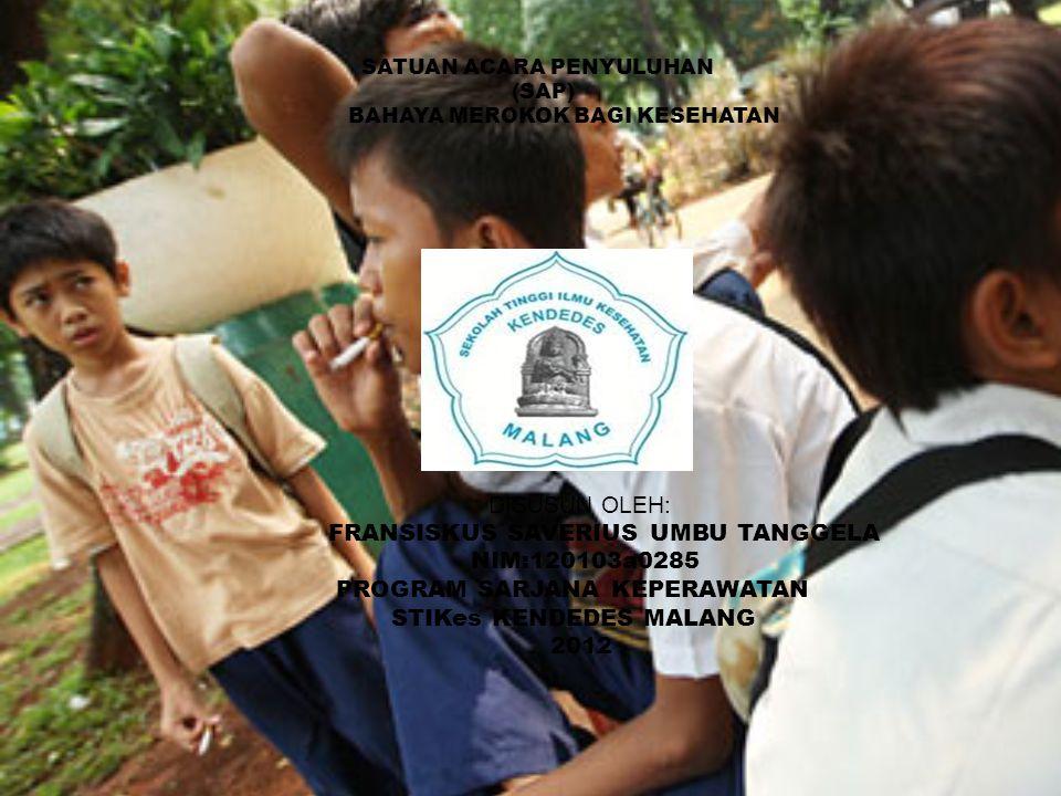 FRANSISKUS SAVERIUS UMBU TANGGELA NIM:120103a0285