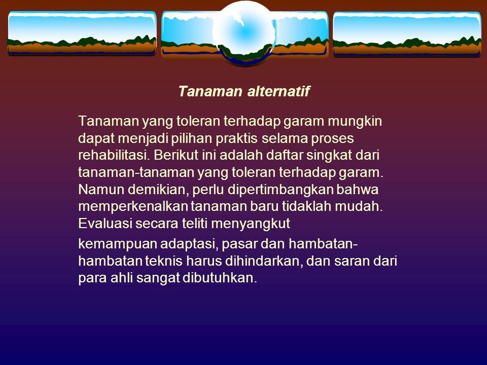 Tanaman alternatif