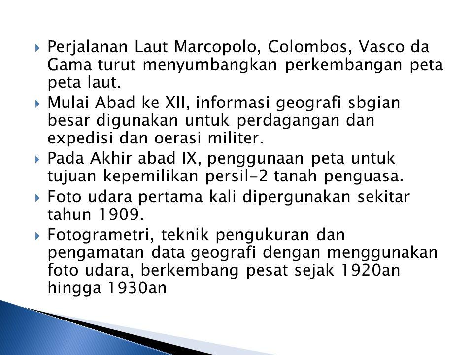 Perjalanan Laut Marcopolo, Colombos, Vasco da Gama turut menyumbangkan perkembangan peta peta laut.