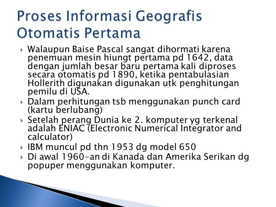 Proses Informasi Geografis Otomatis Pertama
