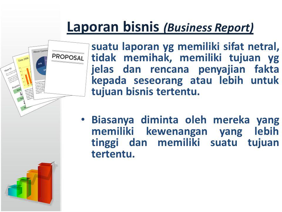 Laporan bisnis (Business Report)