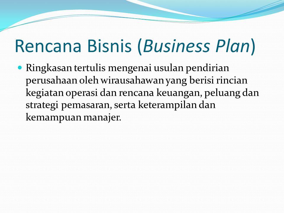 Rencana Bisnis (Business Plan)
