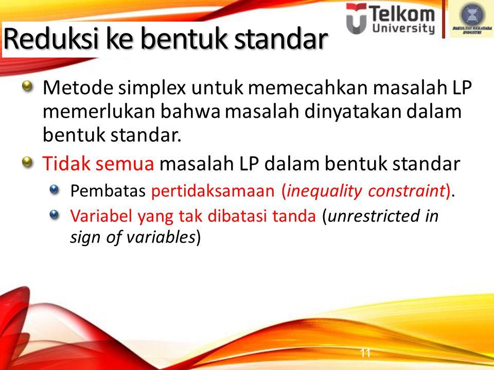 Reduksi ke bentuk standar