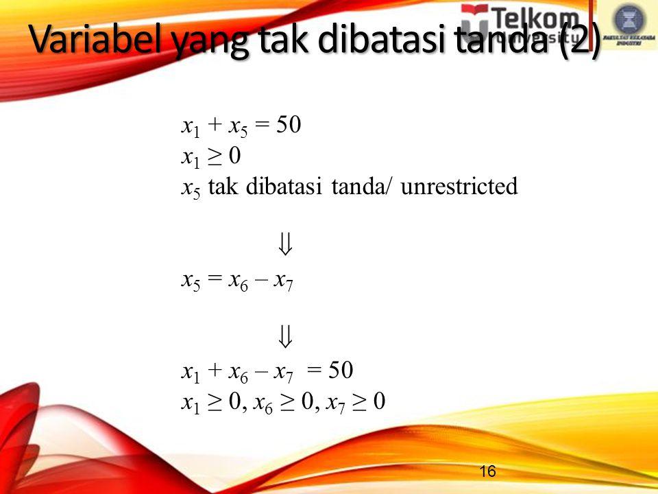Variabel yang tak dibatasi tanda (2)