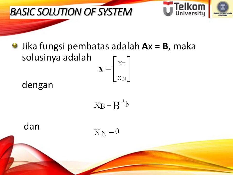 BASIC SOLUTION OF SYSTEM