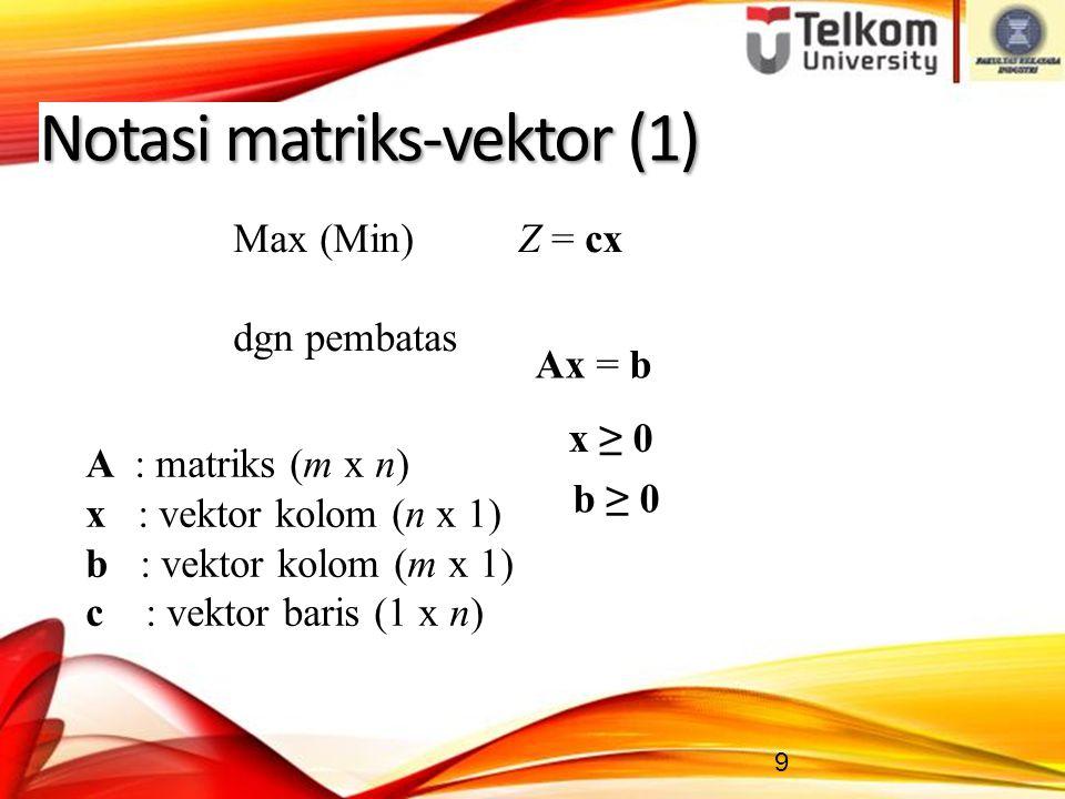Notasi matriks-vektor (1)