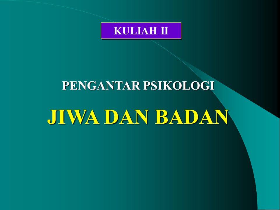 KULIAH II PENGANTAR PSIKOLOGI JIWA DAN BADAN