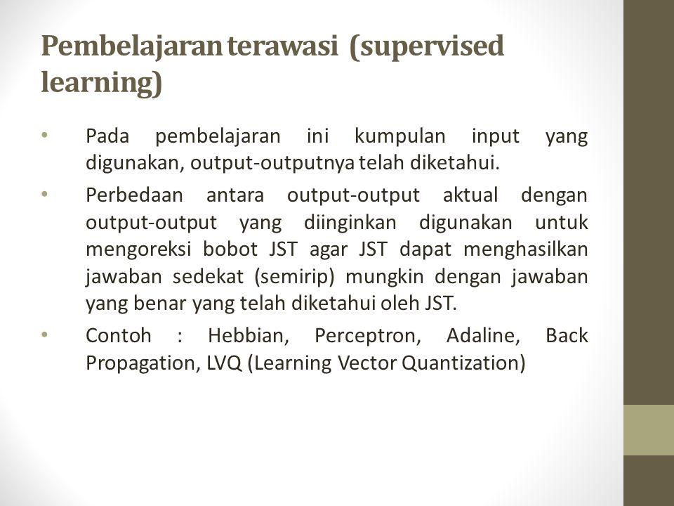 Pembelajaran terawasi (supervised learning)