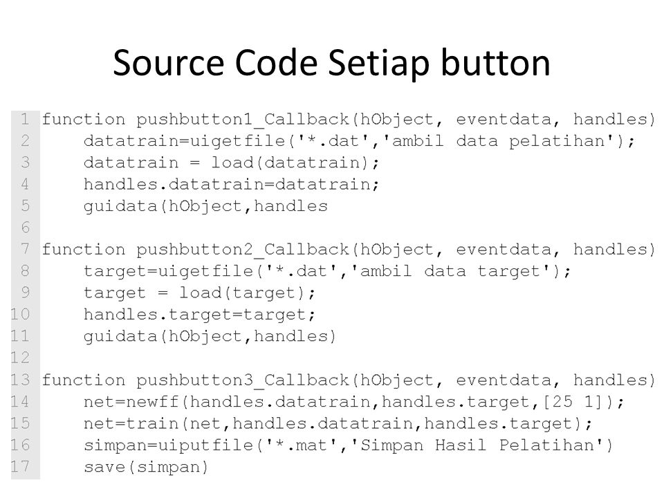 Source Code Setiap button