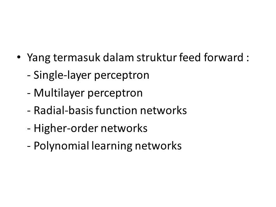 Yang termasuk dalam struktur feed forward :