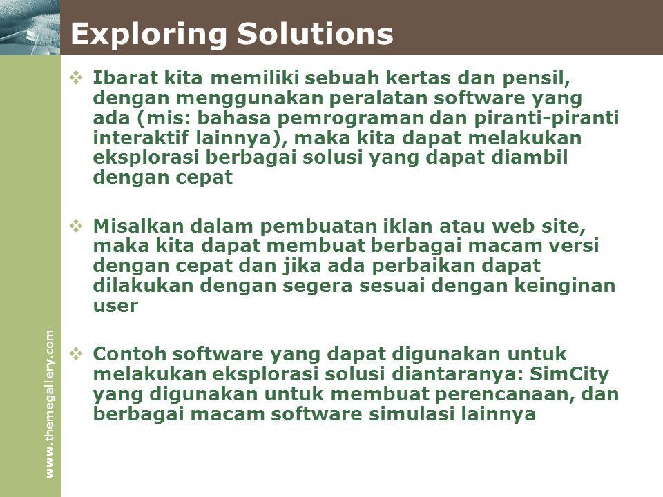Exploring Solutions