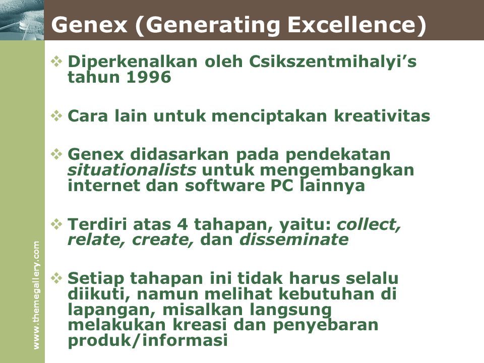 Genex (Generating Excellence)