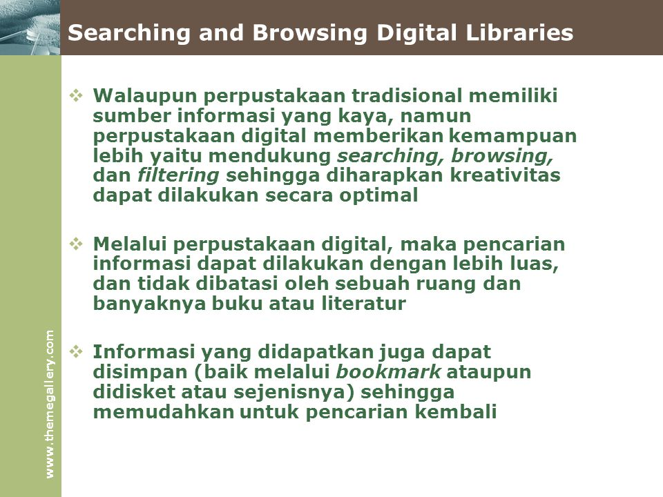 Searching and Browsing Digital Libraries
